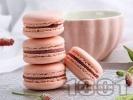 Рецепта Френски макарон с крем от шоколад и ликьор амарето